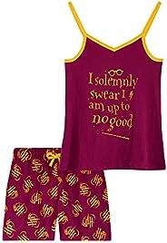 HARRY POTTER Pijama Niña, Pijamas Niña 2 Piezas Camiseta Tirantes y Pantalones Cortos, Ropa Niña 100% Algodon,