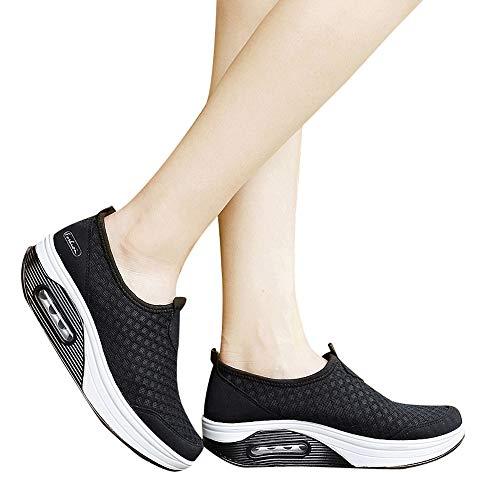Sneaker Damen Freizeitschuhe Frauen Outdoor Mesh Sportschuhe Dick-Soled Schuhe Luftkissen Turnschuhe Outdoor Joggingschuhe Gym Schuhe ABsoar
