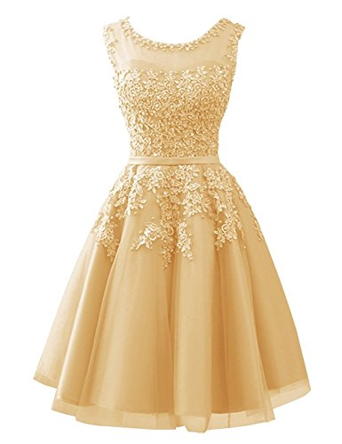 Carnivalprom Damen Abendkleider mit Applikationen Elegant Ballkleid Brautjungfernkleider Kurz...