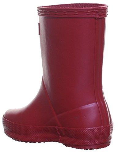 Hunter Bottes en caoutchouc Wellington Bottes en caoutchouc pour enfant premier Rouge - Dark Red P01
