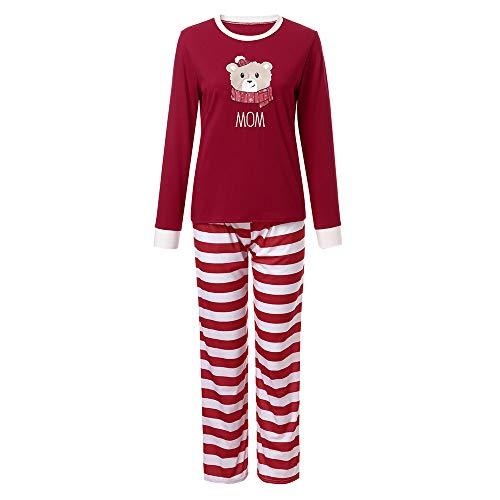 Christmas Pyjamas Family UFODB Baby Jungen Mädchen Schlafanzug Xmas Weihnachten Weihnachtspullover Hausanzug Weihnachtspyjama Nachtwäsche Blouse Hose Sleepwear