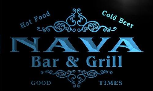 u32107-b-nava-family-name-bar-grill-home-brew-beer-neon-sign-barlicht-neonlicht-lichtwerbung
