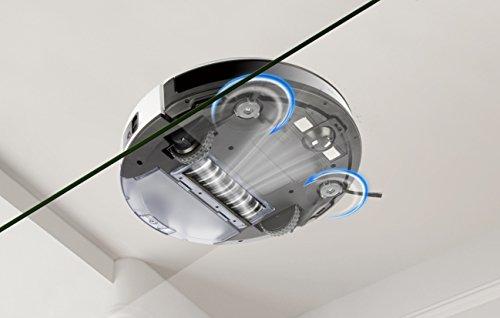 41P2kL7O6sL [Bon Plan Ecovacs] ECOVACS DEEBOT 600 - Aspirateur robot nettoyeur - Pour sols durs et tapis - Aspirateur sans fil programmable via smartphone et compatible avec Amazon Alexa