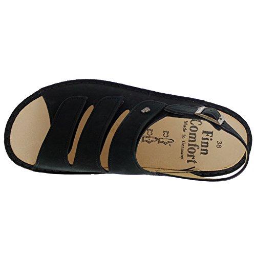 Finn Comfort Womens 2509 Sylt Nubuck Sandals (schwarz Nubuk)