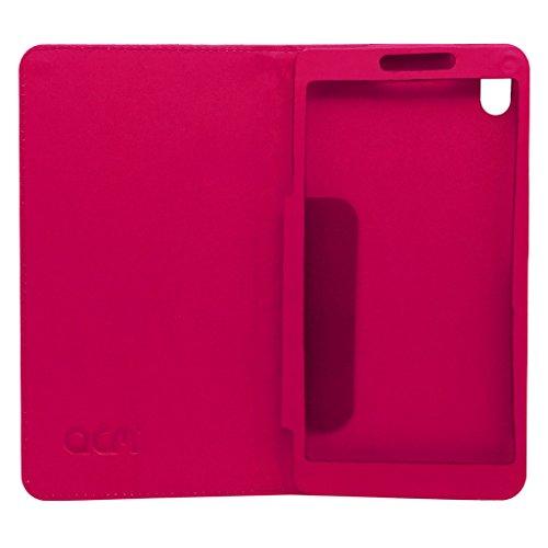 Acm Designer Executive Case For Lenovo Phab 6.98″ Tablet Flip Cover Pink