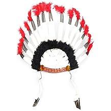 Amosfun 2 UNIDS Indio de la Pluma Diadema Tocado de Carnaval Traje de  Headwear Disfraces de 74b08f6a999