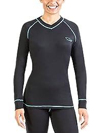XAED - Camiseta térmica de manga larga para mujer (pequeña, ...