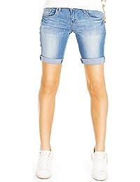 Bestyledberlin Damen Hosen, Kurze Jeans, Denim Shorts, Skinny Fit Jeansshorts j101kw