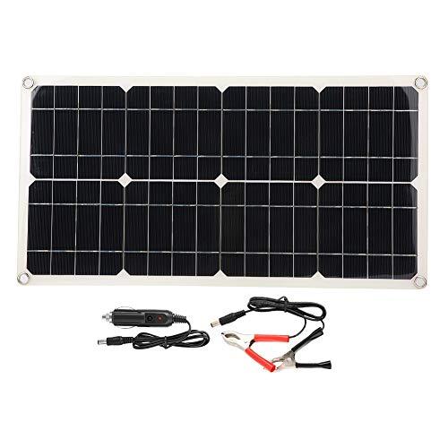 Solarpanel, 5V 40W Dual USB Flexibel Wasserdicht Tragbar Einkristall Solar Power Panel Ladegerät Hohe Umwandlungsrate Autobatterieladegerät Controller für Laptops, Wohnmobile usw - Panel-Überspannungsschutz