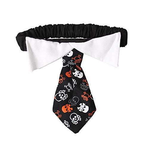 Biback - Collar para Perro, diseño de Calavera, Ideal para Halloween, Festival, Fiesta, Mascotas, Cachorro