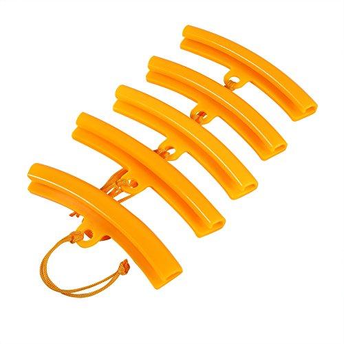 Qiilu 5x Cambiador de neumáticos del coche Protector de llanta Protector Rueda de neumático que cambia la herramienta de ahorro de bordes(naranja)