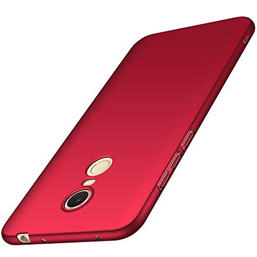 anccer Xiaomi Redmi 5 Plus Hülle, [Serie Matte] Elastische Schockabsorption und Ultra Thin Design für Xiaomi Redmi 5 Plus (Glattes Rot)