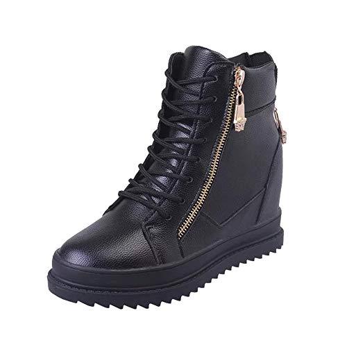 Bottes de Neige,Subfamily Femme Chaussons Hiver Chaussures à Lacets Bottes Classiques Bottes Rangers Chaussures de Ville Mixte Adulte Classiques Chaudes Impermeables Bottines à Talon Haut