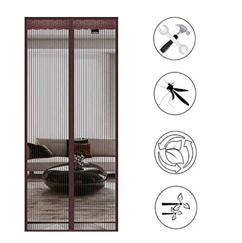 Zanzariera Magnetica per Porta Zanzariera Passeggino Chiudi Automaticamente per Porte d'Ingresso,Porte, Cortili - Brown 110x220cm(43x87inch)