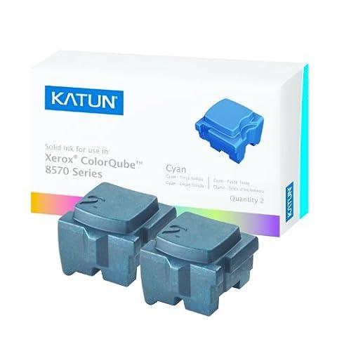Katun 39394 Encre solide cyan compatible avec les imprimantes XEROX ColorQube 8570