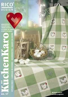 Kreuzstichstickbuch von Rico Küchenkaro Nr. 57
