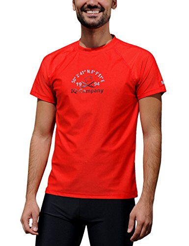 iQ-Company Herren T-Shirt UV-Schutz 300 Loose Fit Watersport 94,rot(red),3XL (58) -