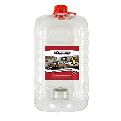 Domestix Zibro Bio Ethanol Etanolo Combustibile Liquido Per Stufe 10 LT Bioethanolo Bioetanolo