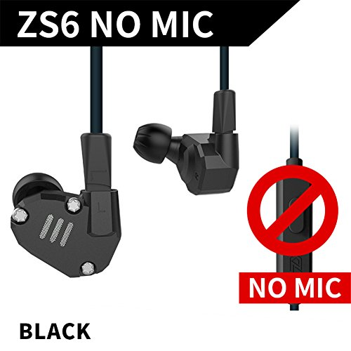 HiFi In Ear Earphone Triple Driver Balanced Armature Bass Noise Earphone Black (Black without MIC) (Triple-driver-ohrhörer)
