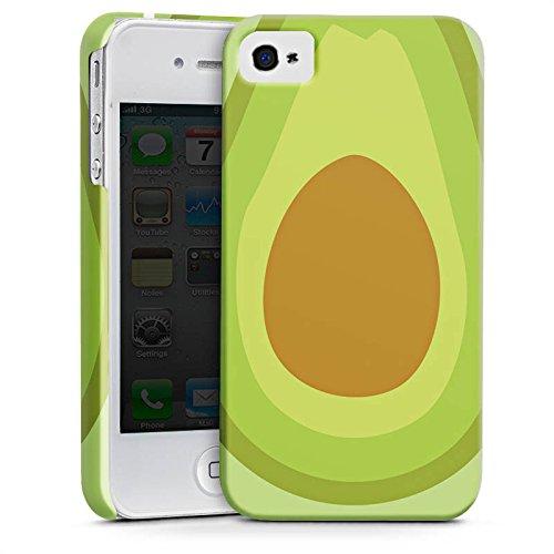 Apple iPhone SE Tasche Hülle Flip Case Avocado Frucht Vegan Premium Case glänzend