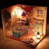 Hoomeda Summer Romance DIY Wood Dollhous...