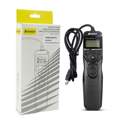 Wenwenzui MC-DC2 Timer Remote Shutter MC/TC for Nikon D3100/D7000/D90/D600/D3200/D5000 Black Nikon Remote Cord