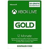 Xbox Live - Gold-Mitgliedschaft 12 Monate + €5 Xbox Live Guthaben Gratis[Xbox Live Online Code]
