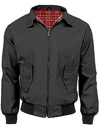 N/A Mens Classic Vintage Harrington Bomber Jacket   Tartan Lined