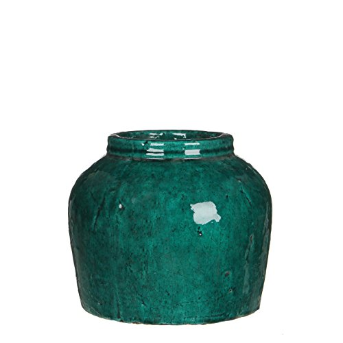 Mica Decorations 119551 Pot Ronde Karl H22.5d25.5 Vert