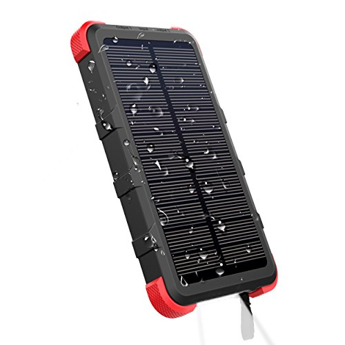 Outxe caricabatterie solare 10000mah powerbank impermeabile ip67 rugged portatile carica batteria con doppia usb