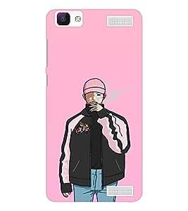 EPICCASE Smoking guy Mobile Back Case Cover For Vivo V1 Max (Designer Case)