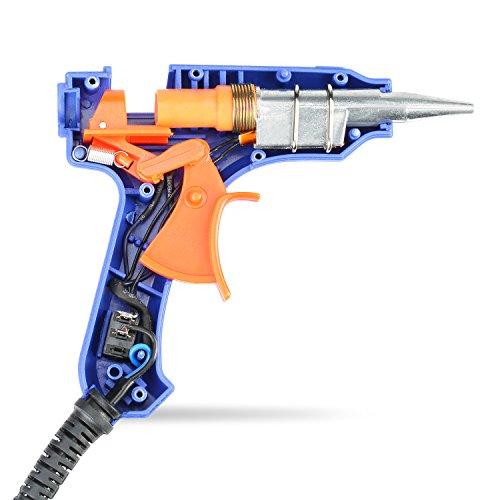[50 piezas] Mini Pistola de Silicona TOQIBO Pistola de Pegamento con 50 piezas Barras de pegamento Alta temperatura kit de pistola de pegamento con Interruptor de Alimentación(20 vatios azul)