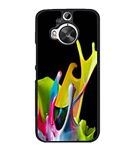 Paint Colours 2D Hard Polycarbonate Designer Back Case Cover for HTC One M9 Plus :: HTC One M9+ :: HTC One M9+ Supreme Camera
