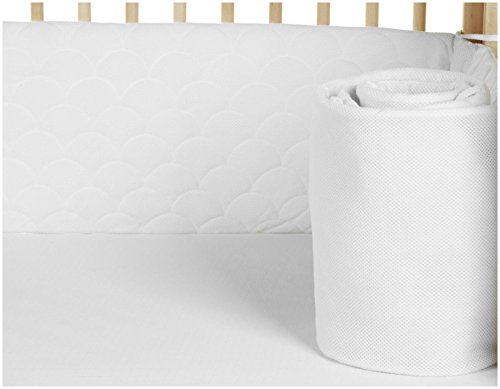 Lifenest Breathable & Padded Mesh Crib Liner - White by Lifenest