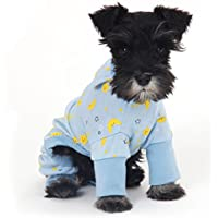 LUYIASI- Perro Ropa Caliente Pet Pijamas Suave Cachorro Traje Transpirable Cat Jumpsuit Pet Supplies ( Color : Azul , Tamaño : M )