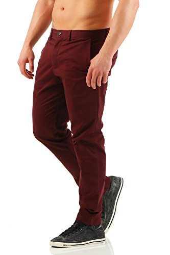 JACK JONES Herren Hose Burgundy 0fe282ea12