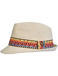 Toutacoo, Chapeau de paille REGLABLE, Panama - Mixte - Chic et Tendance