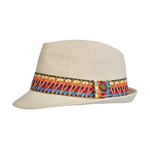 Toutacoo, Chapeau de paille REGLABLE, Panama - Mixte - Chic et Tendance .Copacabana