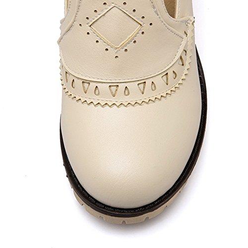Flessibile Coda Colore Materiale Beige Per Donna Pattini Luce Dell'inarcamento Correggere Solido Voguezone009 wqCREFxF