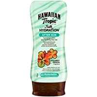 Hawaiian Tropic After Sun Silk Hydration AirSoft - Loción After Sun Hidratante Ultraligera con Aloe para después de la exposición al sol, fragancia Coco y Papaya, formato 180 ml