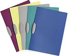 Durable 226600 Swingclip Color Chemise de Présentation Semi-opaque A4 30 feuilles Clip Pivotant Assorti Lot de 25