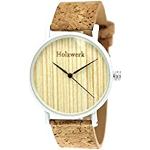 Henny pequeño Designer Unisex Mujer Hombre Certificado Vegano) Madera Natural Slim Reloj de pulsera ·