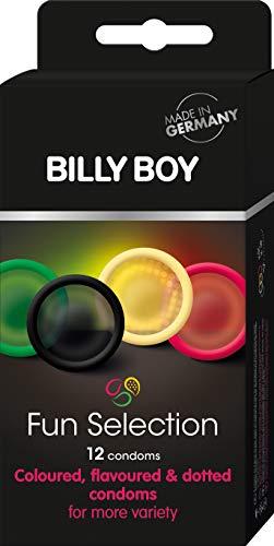 Billy Boy Fun Selection Mix (Bunte Vielfalt) - Sortiment aus farbigen und perlgenoppten Kondomen (12 stück)