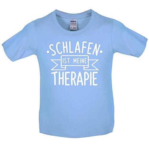 Schlafen ist meine Therapie - Kinder T-Shirt - Hellblau - M (7-8 Jahre)