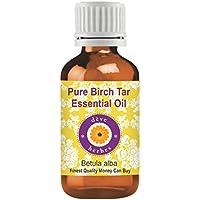 Deve Herbes Aceite esencial de alquitranes de abedul puro (Betula alba) 100% de grado terapéutico natural vapor destilado 15ml (0.50 oz)