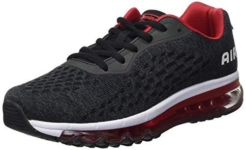 Unisex Herren Damen Sportschuhe Laufschuhe Bequeme Air Laufschuhe Schnürer Running Shoes BLACKRED39