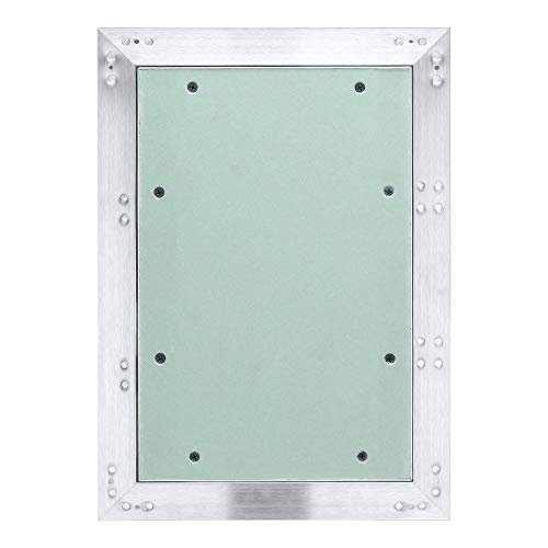 Hengda Revisionsklappe Aluminium-Rahmen 200 * 300mm mit 12.5 mm Gipskarton GK-Einlage ABS-Kunststoff mit Grün imprägniert für Feuchträume geeignet