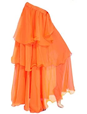 A-Express - Falda larga, Tres capas, para bailar samba, danza del vientre
