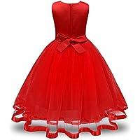 Sonnena Princesa Vestido,Vestido Sin Mangas Verano Ceremonia Fiesta Princesa Elegante Infantiles Boda Suaves Invierno