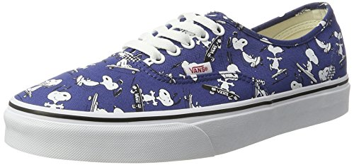Vans Unisex Adults' Peanuts Authentic Trainers, Blue (Snoopy/Skating (Peanuts)), 8 UK 42...